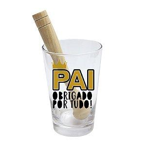 COPO DRINK - KIT CAIPIRINHA 350ML + SOQUETE + CX - MELHOR PAI