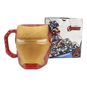 Caneca Formato 3D 400ML - Iron man