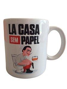 Caneca Porcelana   - La Casa Sem Papel