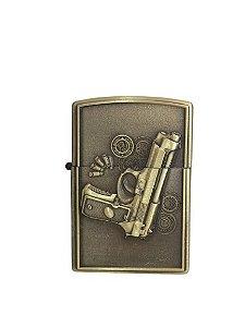 Isqueiro dourado Pistola