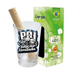 COPO DRINK KIT CAIPIRINHA 350ML + SOQUETE + CX - PAI EDIÇÃO LIMITADA