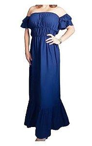 Vestido Liso Longo Color block