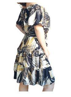 Vestido Ciganinha Ombro A Ombro Estampas Abstract