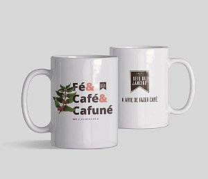 Caneca Seis de Janeiro | Fé, café e cafuné
