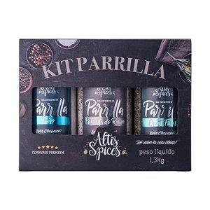 Kit Parrilla Sal Parrilla Puro 500g + Sal Parrilla P. Reino 400g + Sal Parrilla Ervas Finas 400g