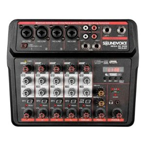 Mesa De Som Compacta Soundvoice Mc6-bt
