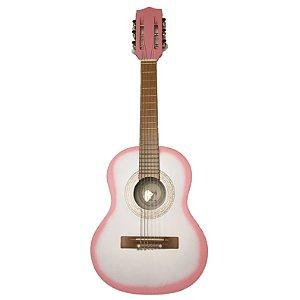 Violão Infantil Roos Nylon Iniciante - Rosa