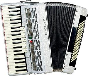 Acordeon 80 Baixos Cadenza CD 80/37 WH - Branco Pérola Acompanha Case e Alça