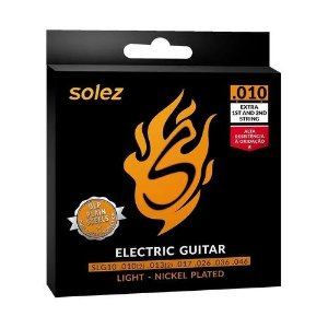 Encordoamento Guitarra Solez .010 Light Nickel Plated