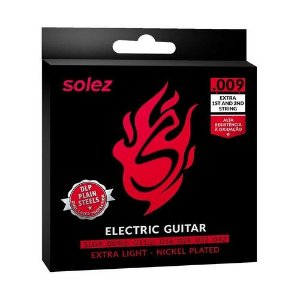 Encordoamento Solez Guitarra .009 Extra Light Nickel Plated