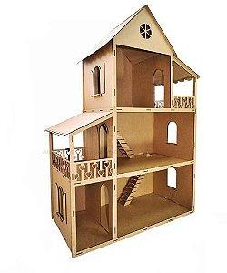 Casa De Boneca 130 Cm Mdf Cru