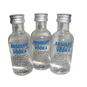 kit 3 Miniaturas de  Vodka Absolut 50ml - Tradicional