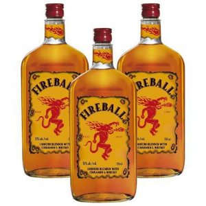 Kit 03 Unidades Licor De Whisky Fireball 750Ml