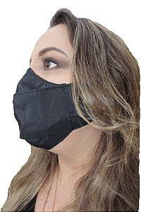 Máscara Antiviral Magnetita Permanente, modelo 3D, dupla camada, inativa vírus em até 2 minutos após contato