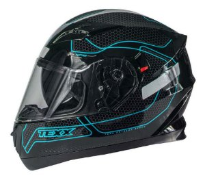Capacete Texx G2 Panther Dupla Viseira Solar Azul