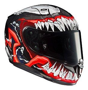 Capacete Hjc Rpha 11 Venom Marvel Tricomposto