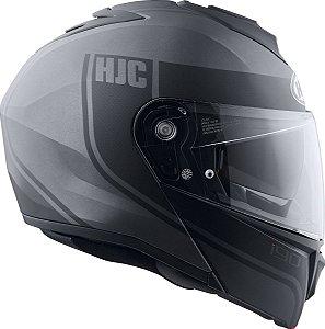 Capacete Hjc I90 Davan Articulado Viseira Óculos Solar Preto