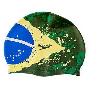 Touca de Natação de Silicone Speedo Brazil Flag Cap