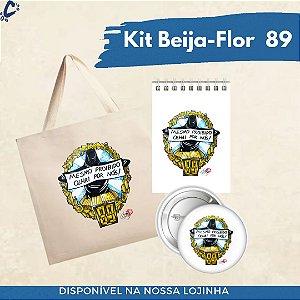 Kit Beija-Flor 1989 (Ecobag+Broche+Bloquinho)