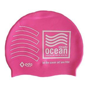 Touca de Siliconte Circuito Ocean - Rosa