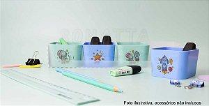 Mini Kit Mundo da Lua com 4 Porta Objetos Dello Azul e Verde 2291SS
