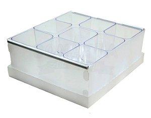 Caixa Organizadora Dello com 9 Porta Objetos Cristal 2194H