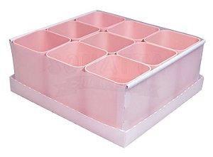 Caixa Organizadora Dello com 9 Porta Objetos Rosa Claro 2194W