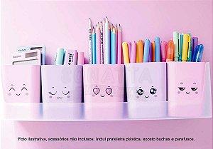 Kit Doçura com 5 Porta Objetos Dello Rosa e Lilás 2190SS