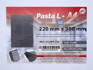 Pasta em L Tamanho A4 DAC Fumê 042PP-FM
