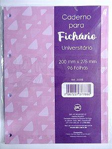 Bloco de Folhas Para Fichário Universitário DAC Rosa 280RE