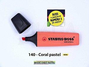 Marcador de Texto STABILO Boss Pastel - Coral 140
