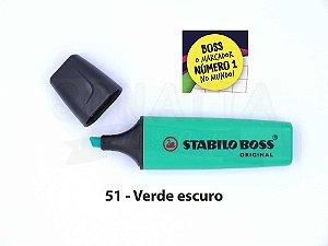 Marcador de Texto STABILO Boss Original - Verde Escuro 51