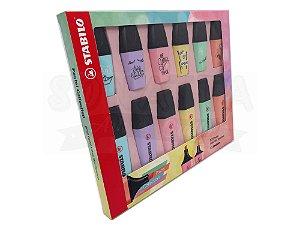 Kit Marcador de Texto STABILO Boss Pastel + Mini Pastellove com 12 un