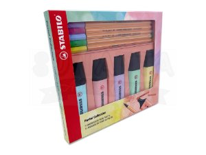 Kit Pastel Collection STABILO (5 Boss + 5 Point 88) com 10 un