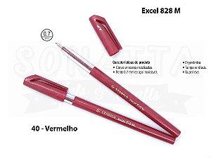 Caneta Esferográfica STABILO Excel 828M - Vermelho 40