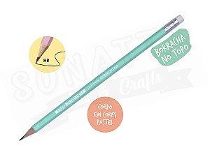 Lápis Preto STABILO Swano HB com Borracha - Corpo Verde Pastel