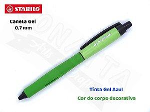 Caneta Gel STABILO Palette 0.7mm 268/1 - Corpo Verde - Tinta Azul