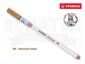 Caneta STABILO Pen 68 Brush Aquarelável - Marrom Claro 89