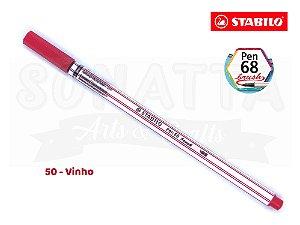 Caneta STABILO Pen 68 Brush Aquarelável - Vinho 50