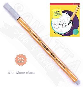 Caneta STABILO Point 88 Pastel - Cinza Claro 94