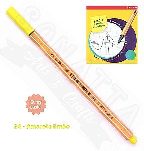 Caneta STABILO Point 88 Pastel - Amarelo Limão 24