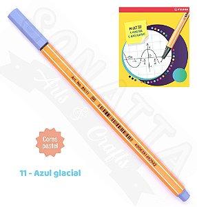 Caneta STABILO Point 88 Pastel - Azul Glacial 11