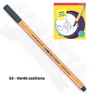 Caneta STABILO Point 88 - Verde Azeitona 63