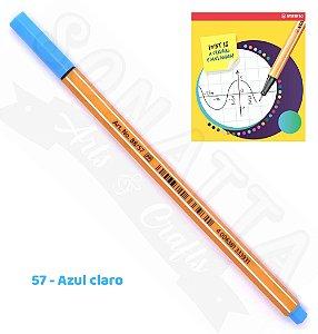 Caneta STABILO Point 88 - Azul Claro 57