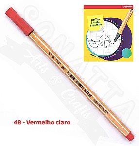 Caneta STABILO Point 88 - Vermelho Claro 48