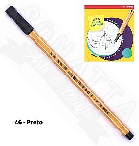 Caneta STABILO Point 88 - Preto 46