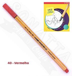 Caneta STABILO Point 88 - Vermelho 40