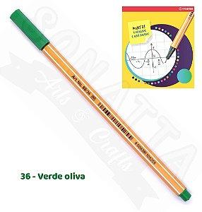 Caneta STABILO Point 88 - Verde Oliva 36