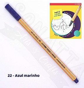 Caneta STABILO Point 88 - Azul Marinho 22