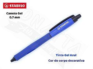 Caneta Gel STABILO Palette 0.7mm 268/1 - Corpo Azul Escuro - Tinta Azul